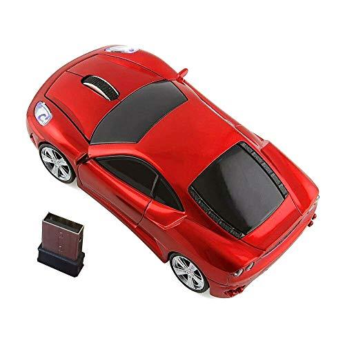 Wireless Car Mouse,Kamouse 2.4G Optical Ergonomic USB Wireless Game Mice 1600DPI for Laptop Pc Desktop Windows 10