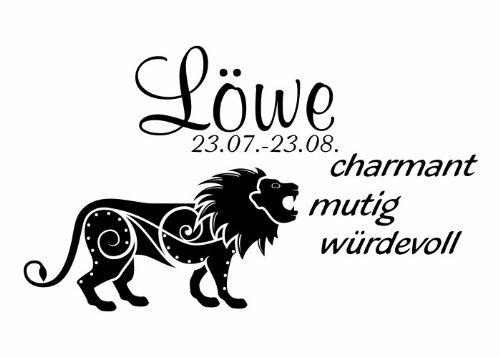 Wandtattooladen Wandtattoo - Sternzeichen - Löwe Größe:50x29cm Farbe: Schablone