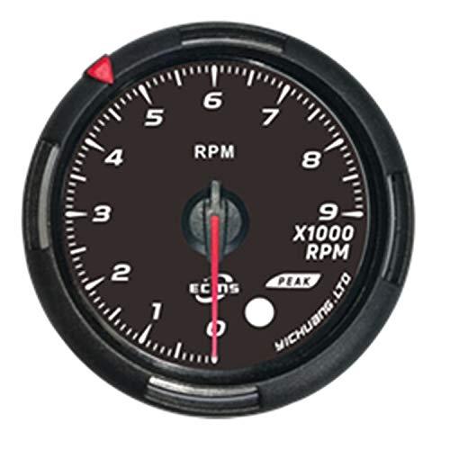Tacómetro de tacómetro avanzado de 60 mm Indicador de RPM Ámbar Luces rojas/blancas Cara negra Multímetro Digital Tester