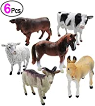 6 Piece Farm Animal Models Toy Set, Realistic Animals Action Figure Model, Educational Learn Cognitive Toys
