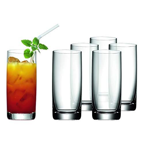 WMF Easy Longdrinkgläser Set 6-teilig 350ml, Cocktailglas, Kristallglas, spülmaschinengeeignet, bruchsicher