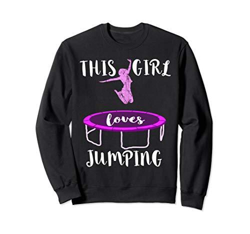 Trampolin Springen Akrobatik Jumpen Trampolinspringer Mädels Sweatshirt