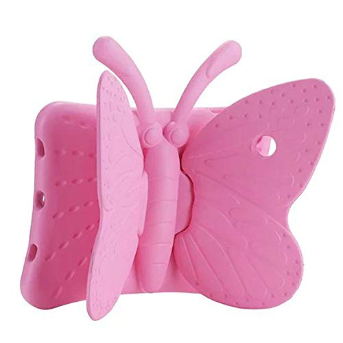 Hot EVA Shockproof Case for iPad Mini 1 2 3 4 5 7.9 Child Cartoon Butterfly Stand Tablet Cover for iPad Mini 5 Kids Safe Cases-pink