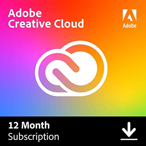 Adobe Creative Cloud | Entire Collection of Adobe Creative Tools Plus 100G Storage | 12-Month subscription with Auto-Renewal, PC/Mac