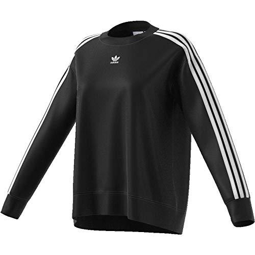 adidas Crew Sweater–Felpa, Donna, Nero (Nero)