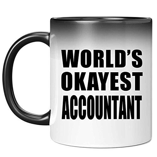 Worlds Okayest Accountant - 11 Oz Color Changing Mug Farbwechsel-Becher 325ml Thermosensitiv Tasse - Geschenk zum Geburtstag Jahrestag Weihnachten Valentinstag