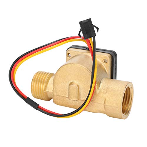 Sensor de flujo de agua, interruptor de sensor de agua de rosca macho hembra G1 / 2in, transductor de pasillo, contador de pulsos DC 3-24V, caudalímetro de líquido