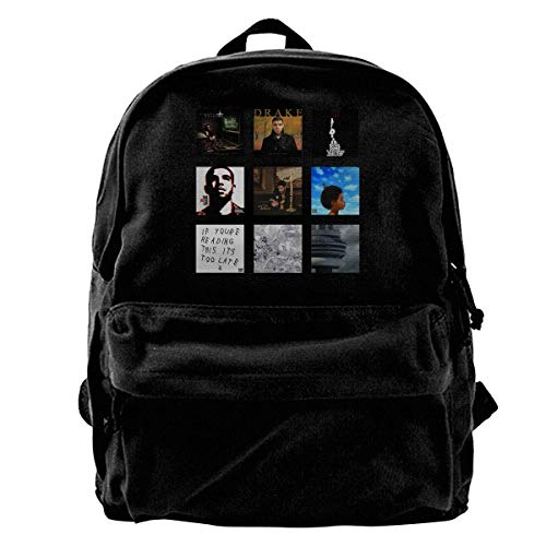 Homebe Mochila antirrobo Impermeable,Canvas Laptop Backpack Waterproof School Bookbag for Men Women Old-Drake Outdoor Travel Daypack College Student Rucksack Fits Up to 15.6 Inch Computer
