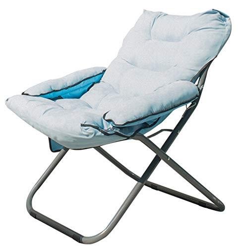 Chaise de jardin portable Chaise de camping rembourrée pliante rembourrée Camping Voyage Chaise ronde Chaise longue Chaise longue avec coussin amovible (Couleur : F, taille : Chair)