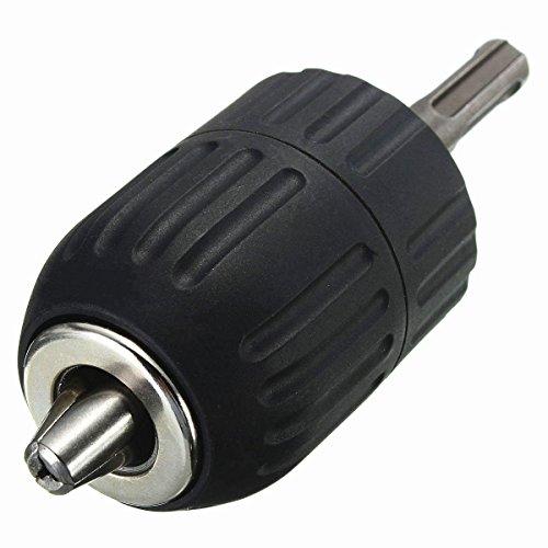 Portabrocas de sujeción rápida Drillpro, de 2 a 13 mm, portabrocas con adaptador de 1,27 cm SDS Plus