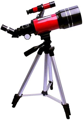 ERZHUI Telescopio astronómico, 300 mm de Distancia, 70 mm, Reflector de Apertura, telescopio monocular, Objetivo 150X con trípode para Principiantes, niños, Estrellas del Cielo