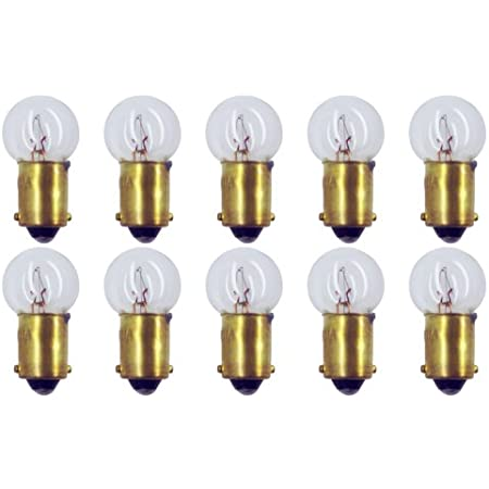 BA9s 1.65W Box of 10 #51 Lamp Bulb Lightbulb 7.5V