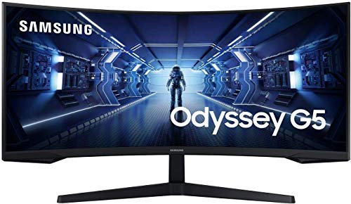 Samsung Odyssey G5 34 Zoll 1440p Gaming Monitor (C34G55T), Curved, 21:9 Wide, UWQHD, Schwarz, FreeSync Premium