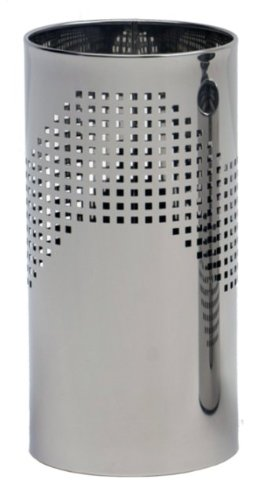 G-pro line quadrotto de corbeilles à papier en acier inoxydable poli 1.4016 graepel, dimensions : 20 x 10–33 l