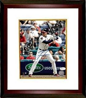 Signed Freeman Picture - 8x10 Custom Framing #5 Hologram at bat) - JSA Certified - Autographed MLB Photos