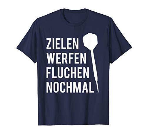 Zielen Werfen Fluchen Nochmal Lustiges Darts Geschenk T-Shirt