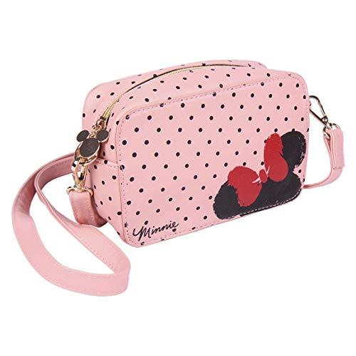 CERDÁ LIFE'S LITTLE MOMENTS Mädchen Schulter Handtasche Disney Minnie Mouse Umhängetasche Damen-Offizielle Lizenz, Rosa, M