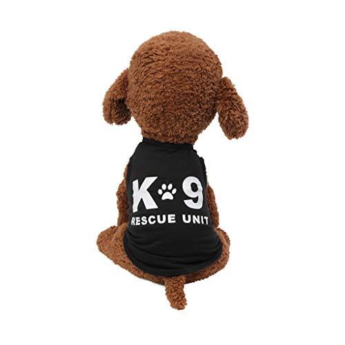Coversolat Hundekleidung Kleine Hunde Hundeshirt Sommer T-Shirt mit Pfotenabdruck Ärmelloses Weste Shirt Chihuahua Kleidung