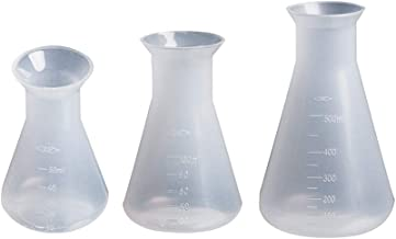 Hemobllo 3Pcs Erlenmeyer Flask,Plastic Flask Conical Flask for Laboratory Students Kids Educational Learning Toys(50ml+100ml+500ml)