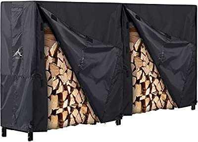 Himal Outdoor Firewood Racks Cover Log Rack Waterproof Firewood Cover Fit 8FT Wood Rack