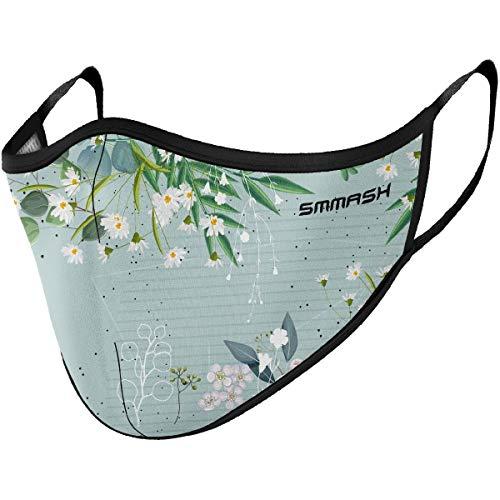 SMMASH Mundschutz Maske Wiederverwendbar, Hochwertiges Gesichtsmaske Waschbar, Multifunktional Trainingsmaske für Radfahren, Laufen, Staubschutzmaske für Damen, Herren (L/XL, Spring)