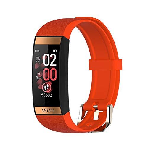YZK E78 Pulsera Inteligente Tarifa cardíaca Presión Arterial Pulsera Inteligente Pulsera de Fitness IP68 Reloj Deportivo Impermeable,A