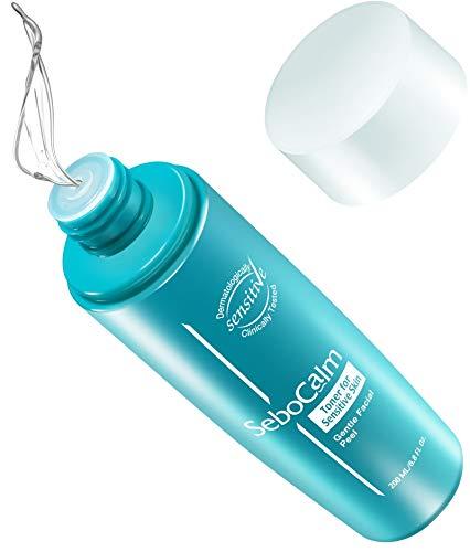 SeboCalm Pore Refining Face Toner - Vegan Hypoallergenic Alcohol Free Redness Relief Exfoliating Facial Skin Water Toner for Oily Combination or Dry Sensitive Skin