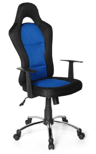 Gaming Stuhl / Bürostuhl RACER 500 schwarz/blau hjh OFFICE