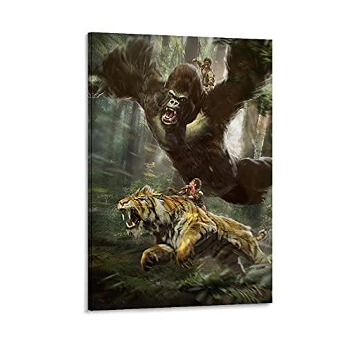 ZUIMEI 6017-gorilla - Póster de tigre (60 x 90 cm)