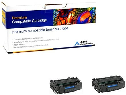 AIM Compatible Replacement for HP Laserjet 1320 Jumbo Toner Cartridge (2/PK-8000 Page Yield) (NO.49XJ) (Q5949XJ2PK) - Generic