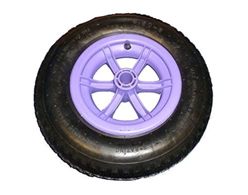 SYTZTOOLS 4 PLY lila SPOKED kruiwagen/trolley wiel pneumatische 14″ band 3.50-8 kruiwagen