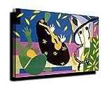 La tristeza del rey de Henri Matisse Estirado Giclee Imprimir en Lienzo-Pinturas,Cuadros Lienzos,Famosas Arte Fino Póster,Decoración de Pared,Listo para Colgar (55x72cm/22x28 pulgadas, Marco)