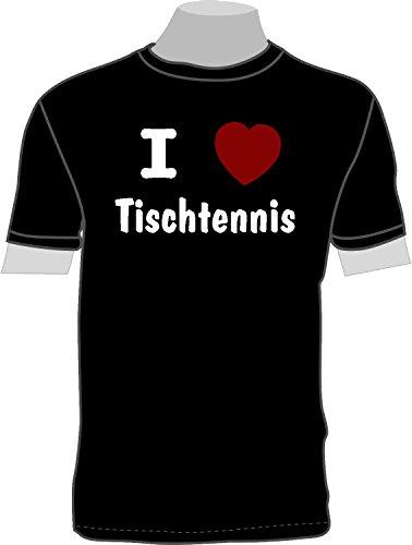 ShirtShop-Saar I Love Tischtennis; T-Shirt