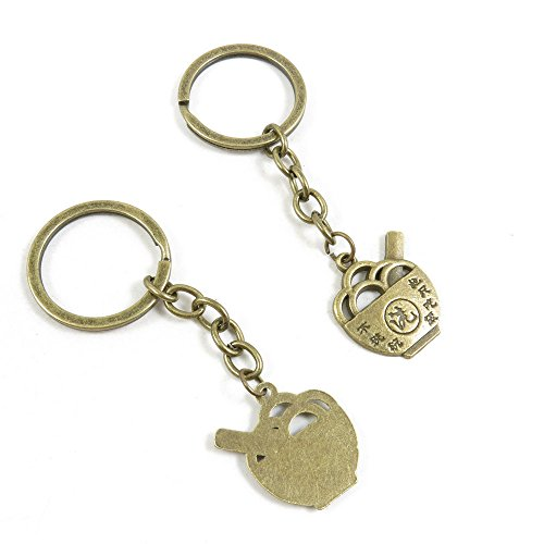 30 Pieces Fashion Jewelry Keyring Keychain Door Car Key Tag Ring Chain Supplier Supply Wholesale Bulk Lots I2CQ1 Rice Bowl Only Eat Not Wash
