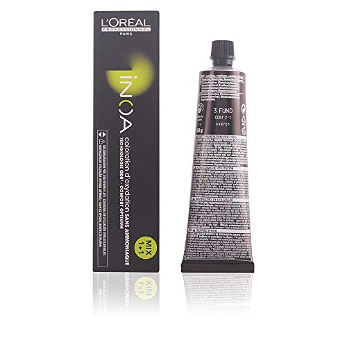 L'Oréal Inoa - Oxidative Coloration ohne Ammoniak 3 Dunkelbraun, 1er Pack (1 x 60 ml)