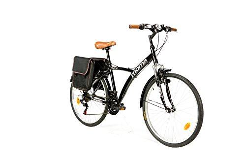 "Moma Bikes Bicicleta Trekking / Paseo HYBRID 26"", Alu, SHIMANO 18V, Susp. Delant."