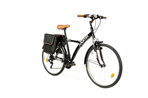 Moma Bikes Hybrid 26 Fahrrad, Schwarz, One Size