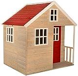 Wendi Toys Nordic Villa Maison de Jardin en Bois pour Enfants en extérieur Ouverture Type L Maison de Jeu avec Porte en...