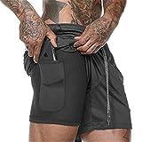 Cooden Uomo Sportivi Pantaloncini Palestra con Tasche Asciugatura Rapida Pantaloni Corti per Jogger, Tennis, Allenamento e Sport, Corsa