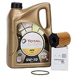 PACK ORIGINAL DUO aceite motor Total Quartz Ineo First 0W-30, 5 Litros + filtro aceite PSA Original 1610693780 motores 1.6BlueHDi