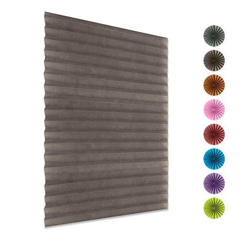 Plissee Jalousie Klapprollo Keine Bohrung erforderlich Rollläden Sichtschutz und Sonnenschutz Opake Plissee-Jalousien für Fenster und Türen mit Klebeband 1 Packung