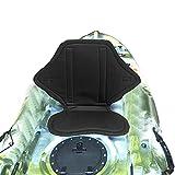 CALIDAKA Kayak Seat Cushion Padded, EVA Pad Canoe Boat Backrest Seats Back Support, Universal Non-Slip Sit On Top with Adjustable Straps for Kayaking Rafting Canoeing