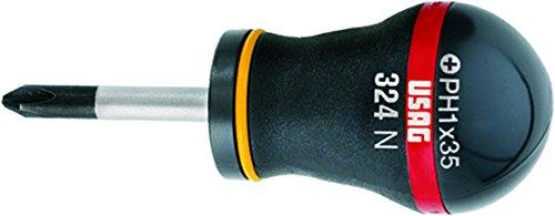 USAG 324 NPH Schraubendreher für Phillips (Kreuzschlitzschrauben, 2x35 mm) U03240069