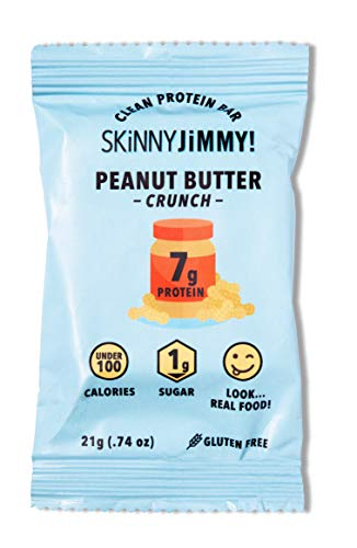 Skinny Jimmy! Peanut Butter Crunch Mini Protein Bars, Under 100 Calories, 24 Count