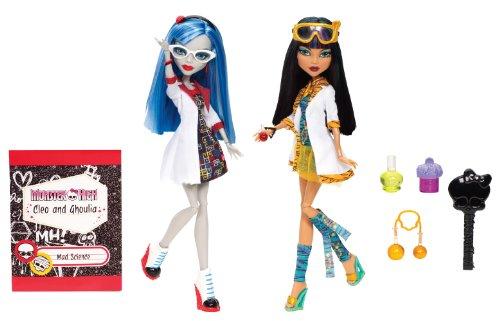Mattel Monster High BBC81 – Partenaire de Laboratoire Ghoulia et Cleo, 2 poupées en kit