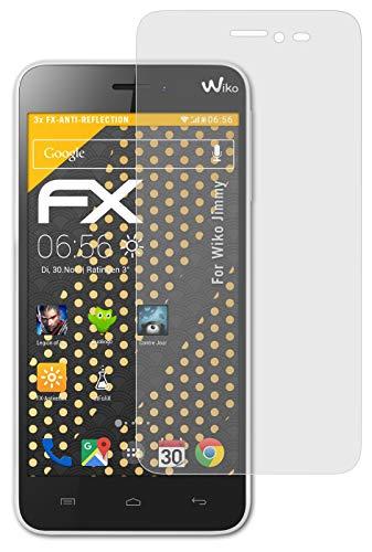 atFolix Panzerfolie kompatibel mit Wiko Jimmy Schutzfolie, entspiegelnde & stoßdämpfende FX Folie (3X)