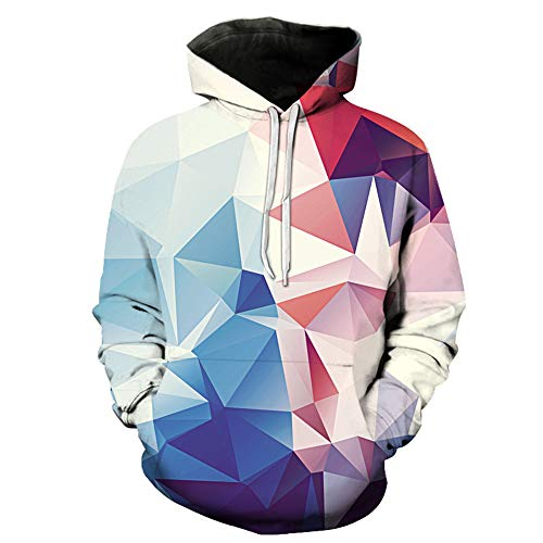 Unisex Pullover Hoodies Realistic 3D Geometry Printed Hooded Long Sleeve Jumper Hip hop Hoodie with Pocket Drawstring Autumn Winter New Mens Cool Lightweight Sweatshirt 3XL