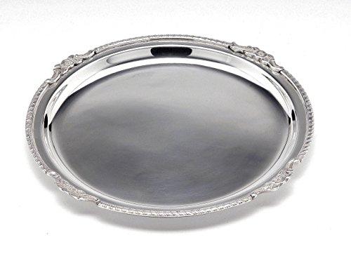 ROYAL QUEEN Vassoio Tondo in Sheffield Stile Regina Anna cod.574025.30 cm diam.30 by Varotto & Co.