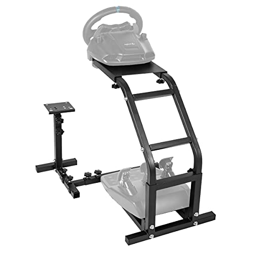 Marada Racing Wheel Stand Adjustable Height Steering Wheel Simulator Stand for Logitech G29/G27/G25/G920 Thrustmaster T300RS,TX,T500RS Without Wheel and Pedals