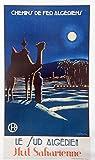 Algerien Sahara Poster, Format 50 x 70 cm, hochwertiges